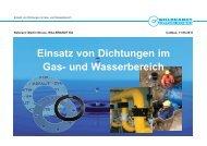 Einsatz von Dichtungen im Gas- und Wasserbereich - SpreeGas