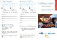 Flyer Produktbörse 2013 - Spreewald