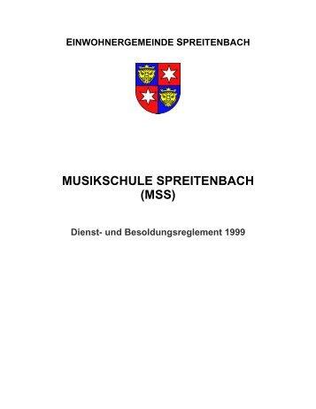 MUSIKSCHULE SPREITENBACH - Gemeinde Spreitenbach