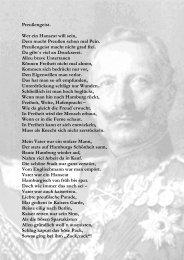 Preußengeist. Wer ein Hanseat will sein, Dem macht Preußen schon ...