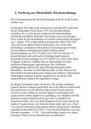 2. Nachtrag zur Marienhafer Kirchenordnung: