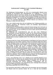 Konfessionelle Verhältnisse in der Grafschaft Oldenburg um 1600