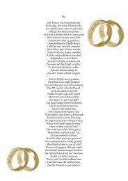 Ehe. Die Ehe ist von Gott geschenkt. Wohl dem, der seine Schritte ...