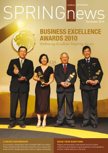 BUSINESS EXCELLENCE AWARDS 2010 - Spring