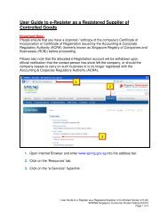 User Guide to e-Register as a Registered Supplier of ... - Spring