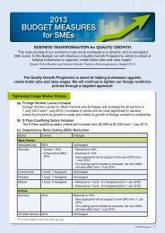 2013 Budget Measures for SMEs (English) - Spring
