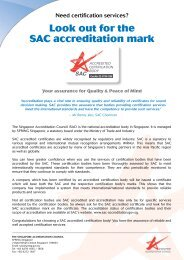 Look out for the SAC accreditation mark - Spring