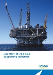 Directory of Oil & Gas Supporting Industries - Spring