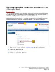 User Guide to e-Register the Certificate of Conformity (COC ... - Spring