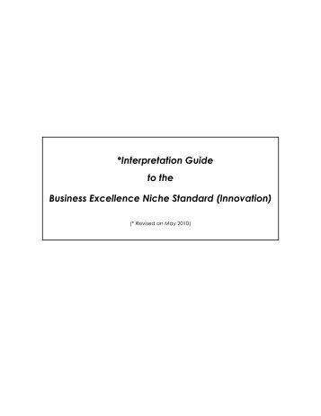 I-Score Interpretation Guide for Innovation Class and ... - Spring