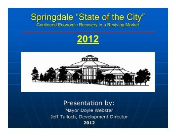 State of the City 2012 - City of Springdale, Ohio
