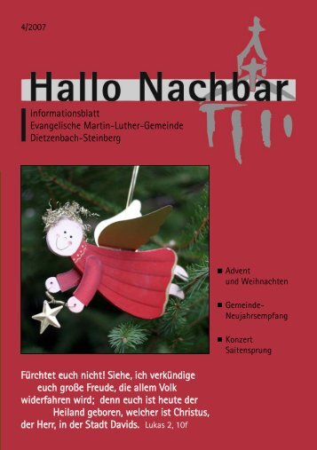 2. Dezember 2007 - Evangelische Martin-Luther-Gemeinde