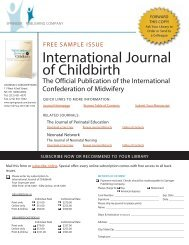 International Journal of Childbirth Author Guidelines
