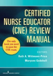 Certified Nurse Educator (CNE) Review Manual - Springer Publishing