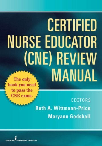 Certified Nurse Educator (CNE) Review Manual - Springer Publishing