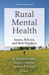 Rural Mental Health - Springer Publishing