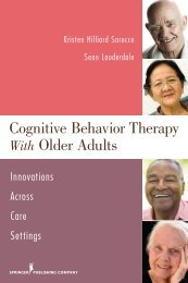 Cognitive Behavior Therapy with Older Adults - Springer Publishing