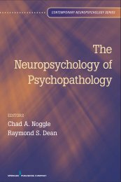 The Neuropsychology of Psychopathology - Springer Publishing