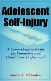 Adolescent Self-Injury - Springer Publishing