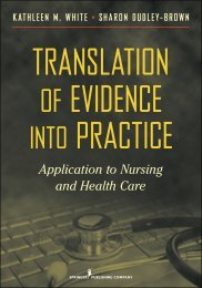 Application to Nursing and Health Care - Springer Publishing
