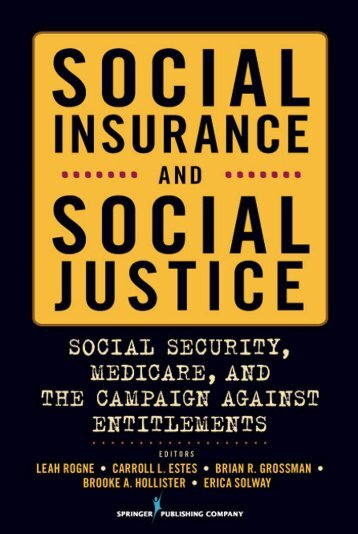Social insurance and social justice - Springer Publishing