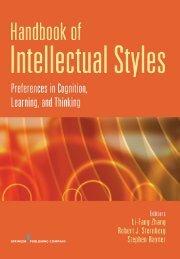 Handbook of Intellectual Styles - Springer Publishing