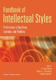 Handbook of Intellectual Styles - Springer Publishing