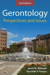 Gerontology Perspectives and Issues - Springer Publishing