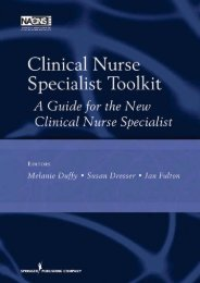Clinical Nurse - Springer Publishing