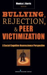 Bullying, rejection, and peer victimization - Springer Publishing