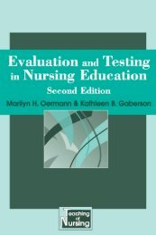 Evaluation and testing in nursing education - Springer Publishing