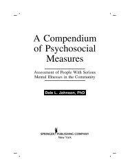 A Compendium of Psychosocial Measures - Springer Publishing