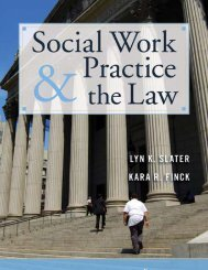 social work practice and the law - Springer Publishing