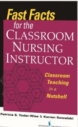 Fast facts for the classroom nursing instructor - Springer Publishing