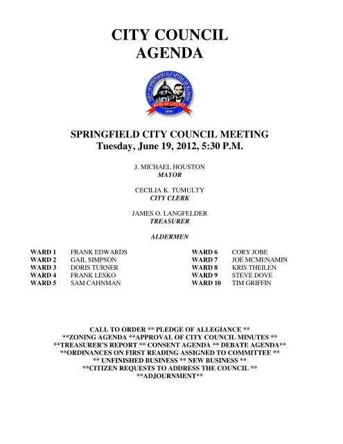 City Council Agenda Springfield City Clerk