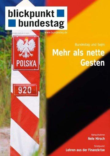 Mehr als nette Gesten - Deutscher Bundestag