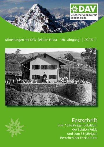 Festschrift - Alpenverein Sektion Fulda e. V.
