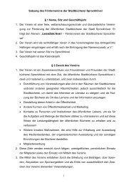 1 Satzung des Fördervereins der Stadtbücherei Sprockhövel § 1 ...