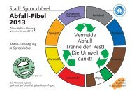 2013 Abfall-Fibel - Sprockhövel