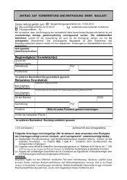 Antrag auf Vorbereitung und Eintragung einer Baulast