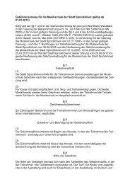 Gebührensatzung für die Musikschule der Stadt Sprockhövel (gültig ...