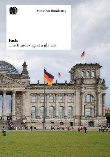 Facts - The Bundestag at a glance - Deutscher Bundestag