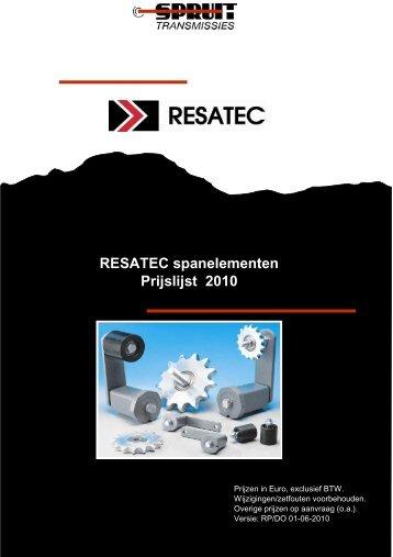 Resatec 2010 - Spruit Transmissies BV