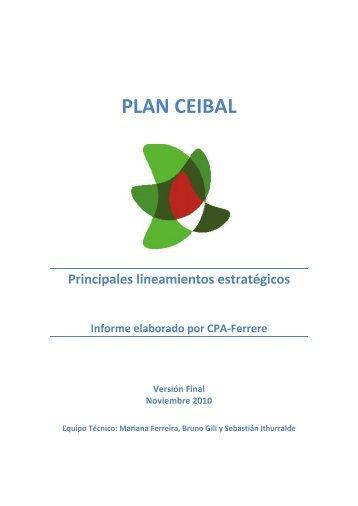 PLAN CEIBAL Principales lineamientos estratégicos Informe