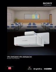 VPL-SW526M/VPL-SW526CM - Sony