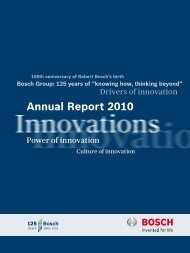 Annual Report 2010 - Bosch worldwide