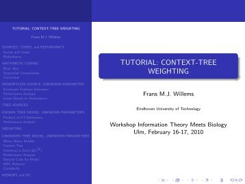 TUTORIAL: CONTEXT-TREE WEIGHTING