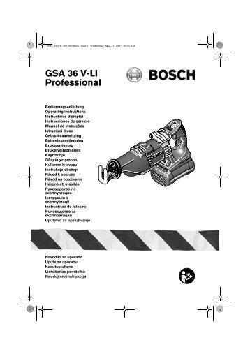 GSA 36 V-LI Professional - Bosch