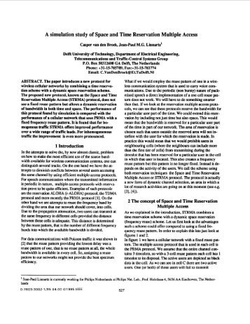 A simulation study of Space and Time Reservation Multiple Access ...