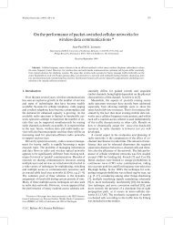 On the performance of packet-switched cellular networks for ...